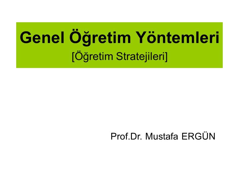 Genel Öğretim Yöntemleri [Öğretim Stratejileri]